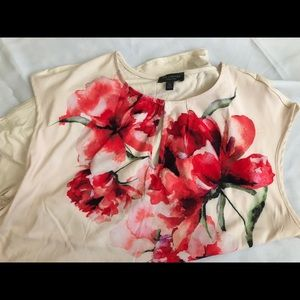 🌺🌺NWT the Limited Peony Cap Sleeve Top🌺🌺